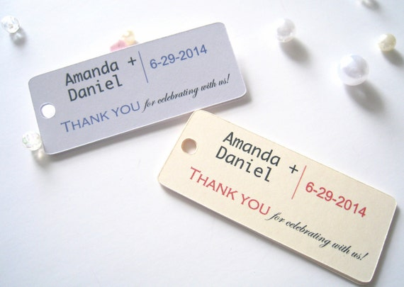 Wedding favor tags, gift tags, thank you tags, party favor tags - 30 tags
