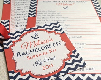 Bachelorette Party, Survival Kit Tag, How Well Do You Know the Bride Game, Bachelorette Scavenger Hunt Game, Bachelorette Games, Bridal Game