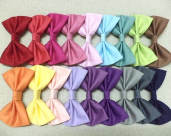Sale - set of 3, Solid color hair bow,fabric hair bow,big hair bow,cute hair bow,pastel hair bow,hair bows,sweet ,cute,lovely, You Choose 3