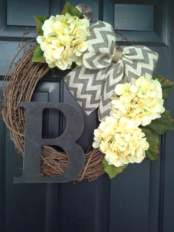 Front Door Wreath Everyday Wreath Door Decor Yellow Wreath