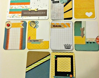 "Handmade PL Project Life journaling card set ""Good Times"""
