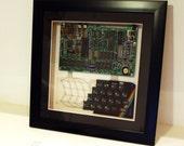 Framed Artwork Made of Vintage 8-bit ZX Spectrum Computer Ideal Gift for Nostalgic IT Geek
