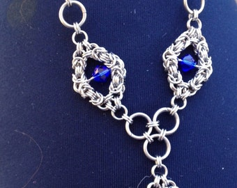Stainless Steel 'Romanov' style necklace