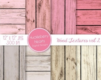 Pink and Gray Wood Backgrounds, Digital Scrapbook Paper, Digital Wood Paper, Digital Wood Textures