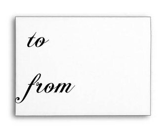 To And From Rubber Stamp, Gift Tag Stamp, Wood handle or Self Inking