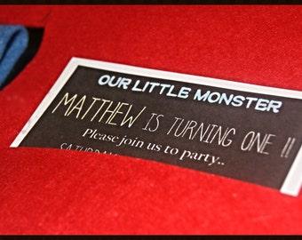 Lil' Monster Invitation