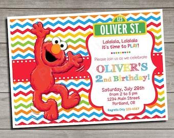 Elmo Birthday Invitation | Birthday Invitation | Elmo Invitation | Elmo Party Invite | Elmo Party | Sesame Street Invitation
