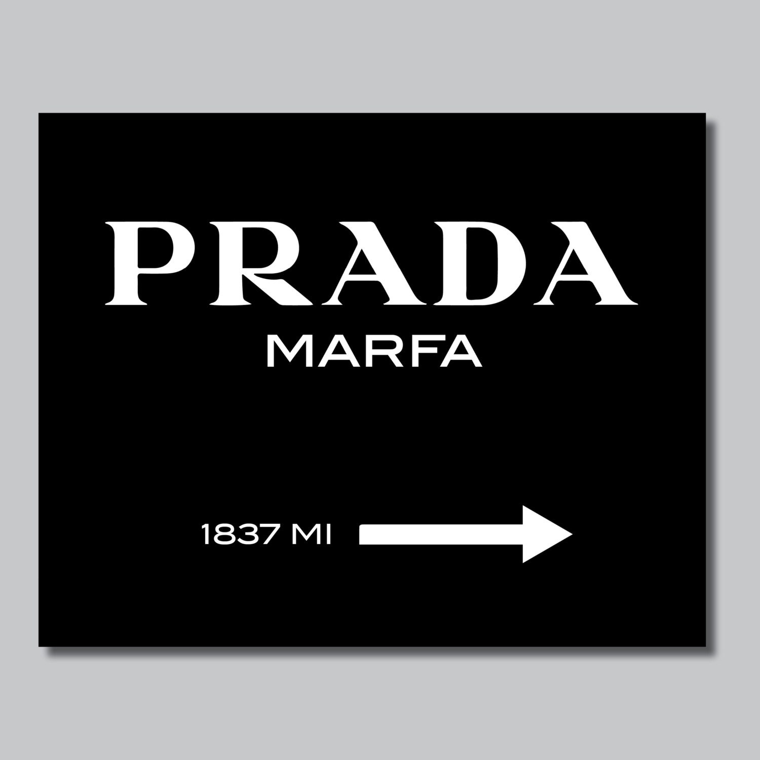 black gossip girl inspired prada sign single by rhondavousdesigns2. Black Bedroom Furniture Sets. Home Design Ideas
