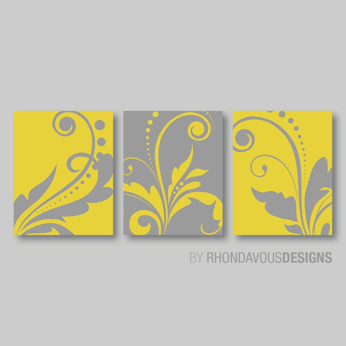 Yellow Wall Art, Baby Girl Nursery Wall Art, Blue Bedroom Pictures ...
