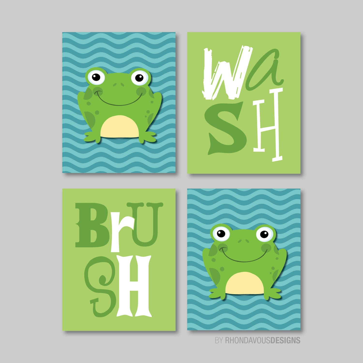 Child bathroom art child bathroom decor frog bathroom art for Frog bathroom ideas