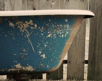 Antique Bath tub Home Decor Wall Art Photograph
