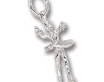 Sterling Silver Ice Skater Charm by Rembrandt