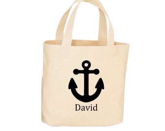 Personalized Anchor Beach Tote - Nautical Tote - Beach Bag, Tote Bag - Natural Cotton - Beach Wedding Tote Bridesmaid Tote FREE SHIPPING