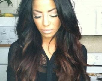 Human Blend Swoop Bang Wig   Short Hairstyle 2013