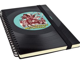 Upcycling notebook vinyl