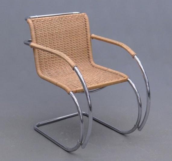 mr 20 mies van der rohe gavina cane lounge chair mid century modern