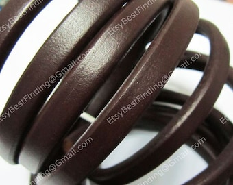 Brown Licorice leather cord 10x6mm Genuine licorice leather