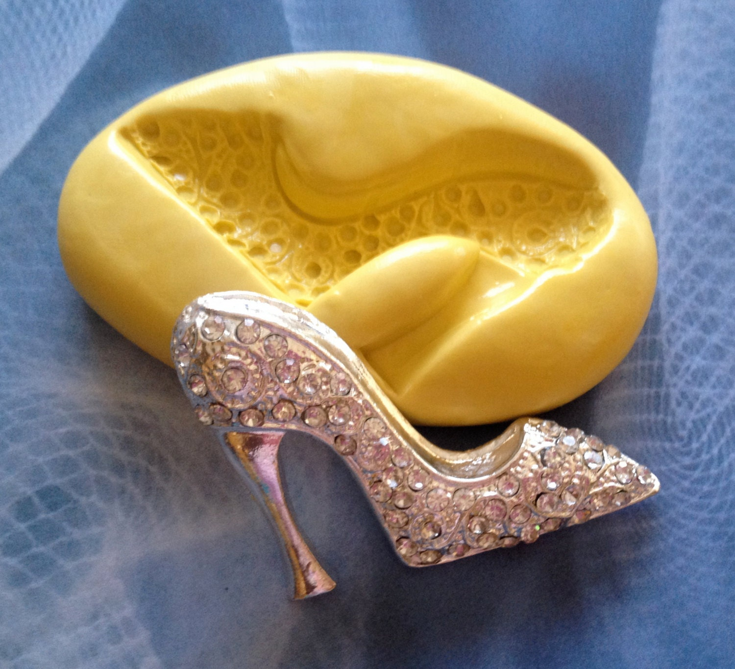 High Heel Fashion Shoe Silicone Mold Clay By