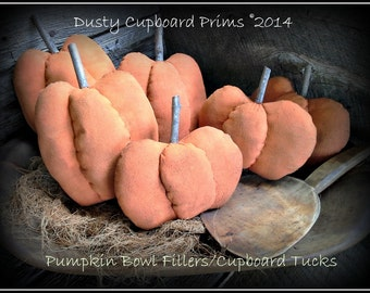 Pumpkin Bowl Fillers ~Cupboard Tucks E-pattern
