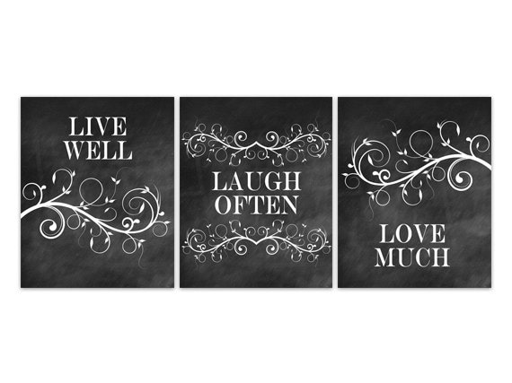 home decor wall art live well laugh often love much. Black Bedroom Furniture Sets. Home Design Ideas