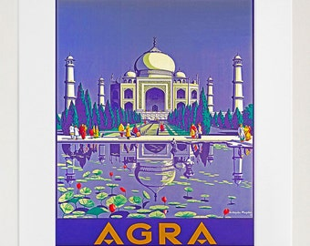 Travel Poster India Art Print Taj Mahal (TR94)