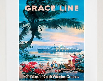 Caribbean Travel Poster Wall Art Print Home Decor (ZT597)