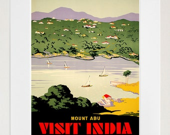 India Travel Poster Indian Wall Art Print Home Decor (ZT606)