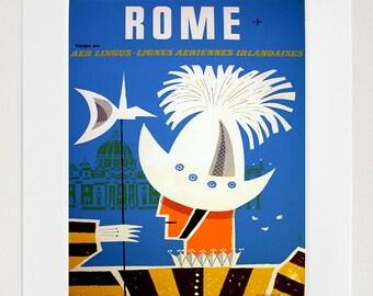 Rome Travel Art Sign Wall Decor Poster Print (XR291)