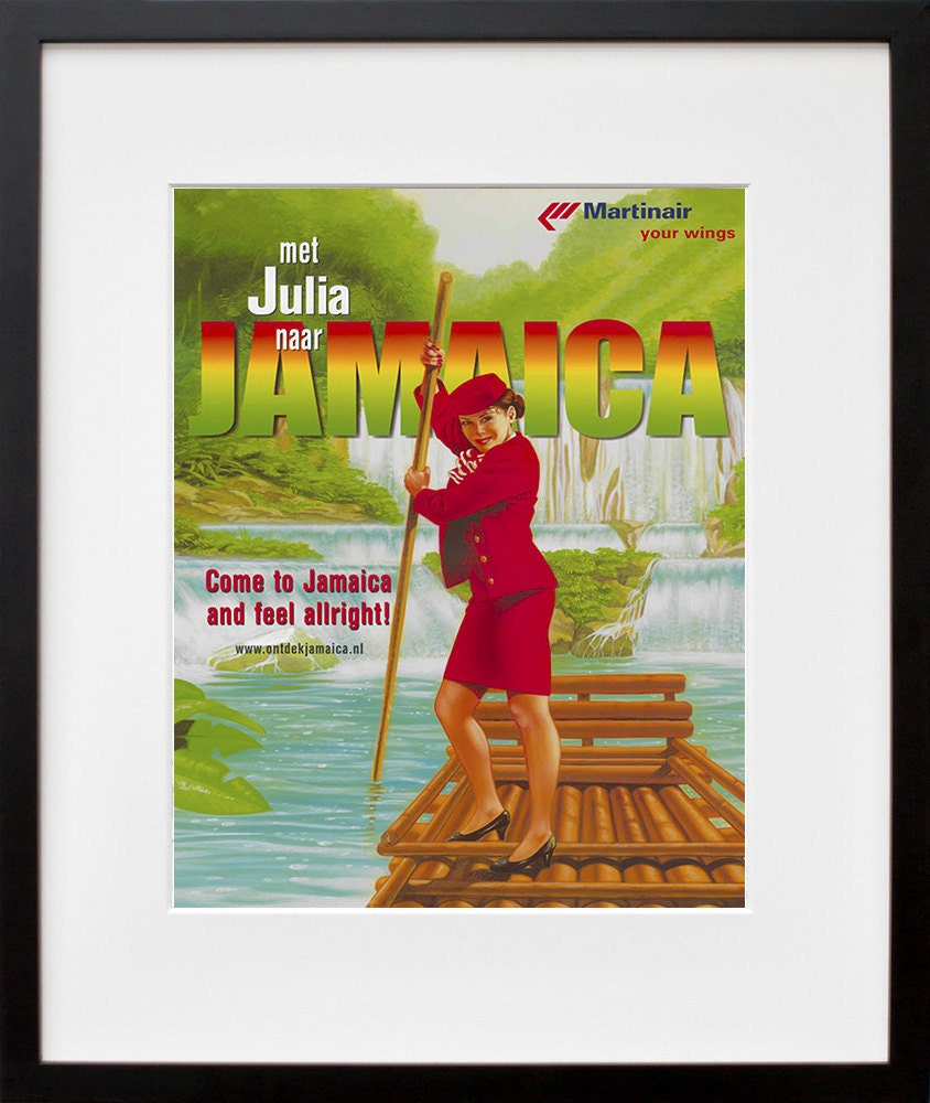 Travel art jamaica print poster jamaican vintage home decor for Home decor jamaica