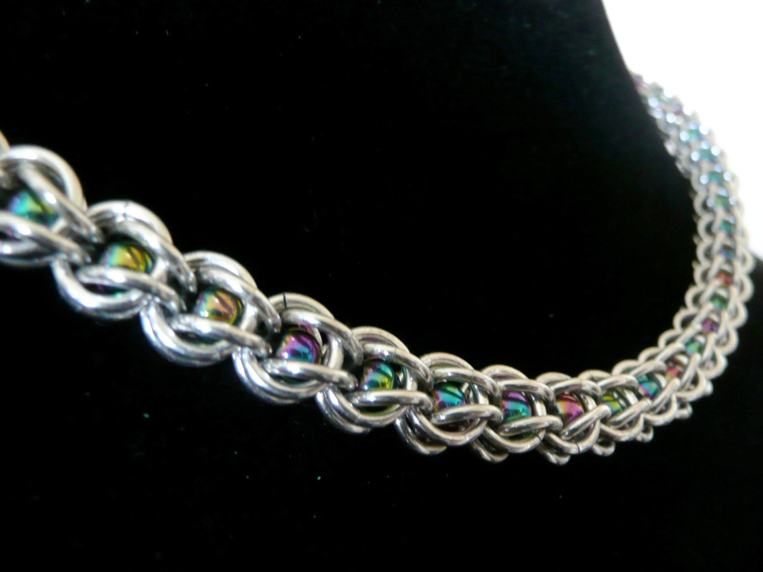 Captive bead chainmaille necklace Chainmaille necklace
