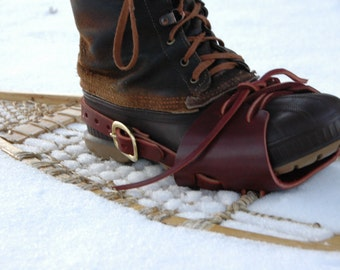 SoleKicks · Leather Snowshoe Bindings ·