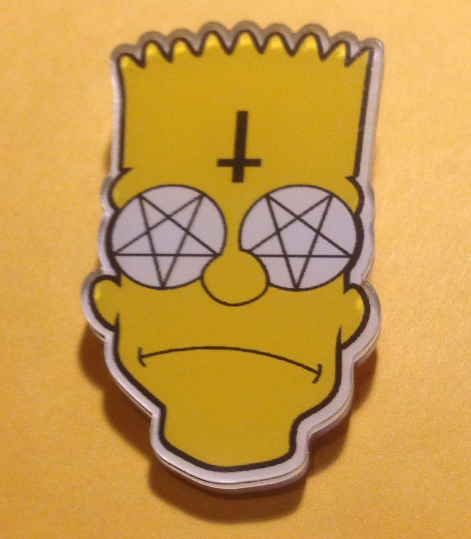 Brat simpson satanic nu goth seapunk witch house bart acrylic - Bart simpson nu ...