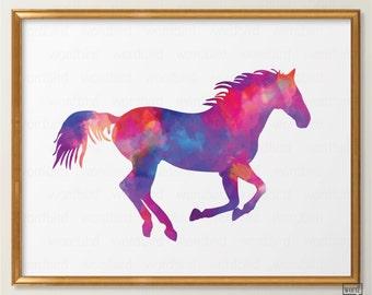Watercolor Horse Print Equestrian Art Watercolor Wall Art Equestrian Print Horse Wall Art Equestrian Decor Horse Decor Equestrian Print
