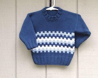 kleinkind stricken pullover 1 bis 2 jahre boys von. Black Bedroom Furniture Sets. Home Design Ideas