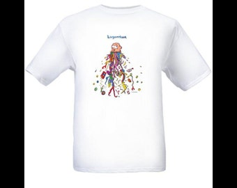 Cartoon t-shirts: logorrhea