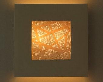 Geometric light. Wall sconce light. Ceramic sconce. Porcelain lighting. Wall lamp.