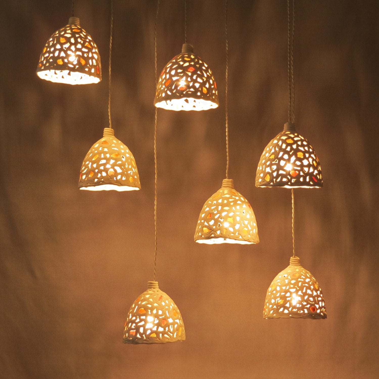 15% off Ceramic hanging lights. Kitchen lighting. Hanging