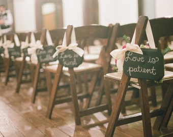 Love is Patient Signs for Wedding Aisle