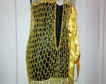Handmade lingerie crochet Yellow/Beige