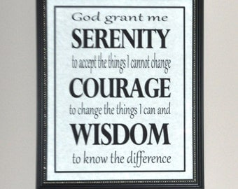 Wall decor: Serenity Prayer picture only (no frame)