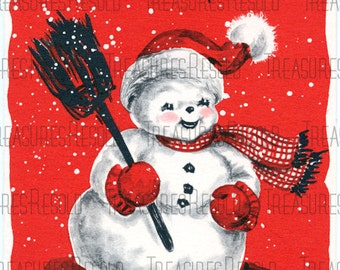 Snowman Christmas Card #145 Digital Download