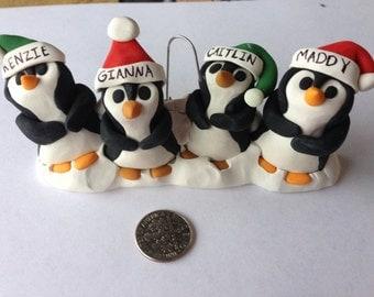 Family of Penguins Christmas Ornament