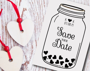 Custom Save the Date Stamp Style No. 15W
