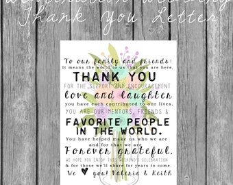 Destination Wedding Welcome Letter For Welcome Bag Hibiscus