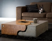 Bamboo and concrete coffee table. FINAL SALE The store definitively closes 21 DEC 2014!