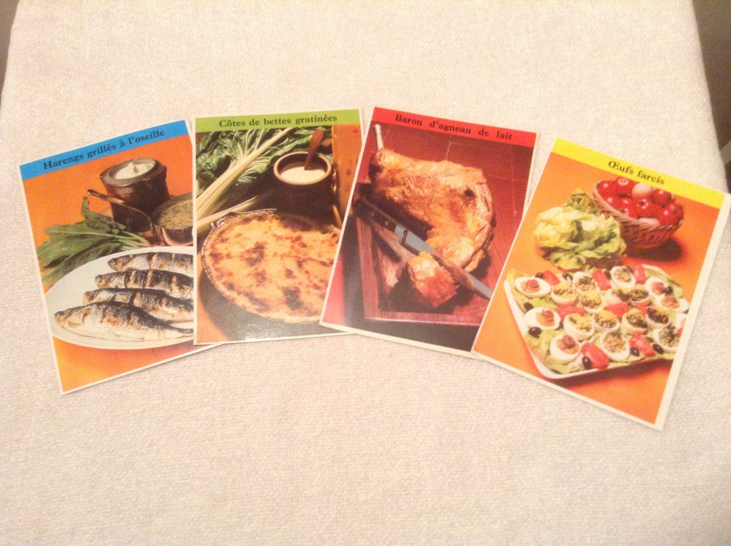 Set Of 150 French Recipe Cards Great Colours French Elle