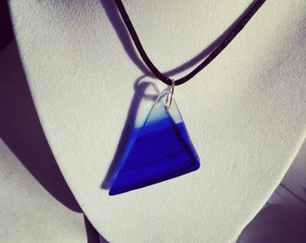 Oceanic Triangle Glass Pendant