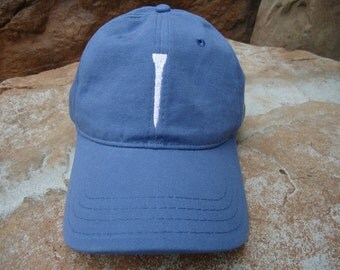 Men's Golf Hat Slate Blue with Embroidered Tee Design | Great Golf Gift Item