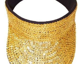Sequin Sun Visor GOLD MARDI GRAS