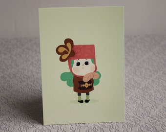 Little girl p postcar